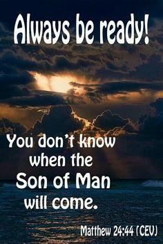 Be ready! John 3:16