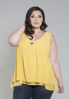 Summer Chiffon Tank  Plus Size tank flaunts a sheer chiffon overlay to create a flattering silhouette. Exude flawless femininity in our new Summer Chiffon Tank. Available in a delicate yellow or dragonfly print. The post  Summer Chiffon Tank  appeared first on  Vintage & Curvy .  http://www.vintageandcurvy.com/product/summer-chiffon-tank-3