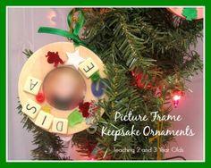 Keepsake Ornaments Made by Kids