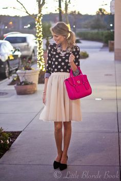 Little Blonde Book by Taylor Morgan   A Life and Style Blog : Holiday Party Fashion: Tulle Skirt Edition