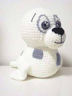 Crochet Pattern Seal Tony Amigurumi PDF Cute White by SKatieDes