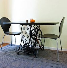 Sewing Machines Recycled into Dining Table