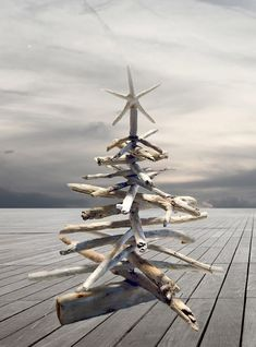 Tutuorial for making a driftwood Christmas tree by DIYDriftwood.com