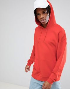 ASOS Oversized Hoodie In Red - Red
