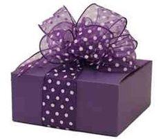Purple present with a pretty lace...
