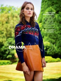 Elle UK November 2014, Karolina Waz