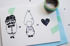 """Hochzeitskarte """"Pfeffer & Salz"""" mit Kuvert von HerrPfeffer auf DaWanda.com"""
