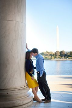 DC Monument Wedding Engagement 275x412 Washington DC Wedding Engagement: Katie + John