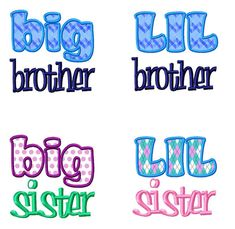 Hey, I found this really awesome Etsy listing at http://www.etsy.com/listing/95178257/4-pack-lil-big-brother-sister-applique