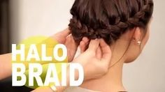 hairstyle updo for short hair crown hairstyle - YouTube