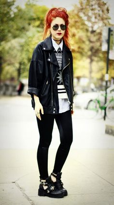 Rank And Style Loves a dose of #grunge, #punk, #denim #fashion! - grunge fashion
