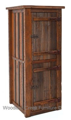 need rustic linen tower in bathroom... maybe a shorter tower on each side for lots of storage??