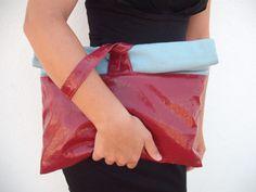 Clutch combined fabrics  Modern women acessories by NavitrineShop