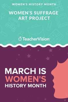 Enjoy an art project that introduces students to Women's Suffrage. Social Change, Women's History, Educational Videos, Art Activities, Creative Crafts, Art Education, Social Studies, Special Day, Lesson Plans