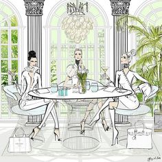 Lunching with the Ladies… Tiffany La Belle Art & Illustration