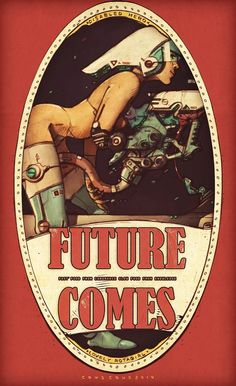 "Extremely Cool Retro ""Future Comes"" Geek Art Series — GeekTyrant Pulp Fiction, Science Fiction Art, New Retro Wave, Vintage Posters, Vintage Art, Character Art, Character Design, Character Concept, Creation Art"