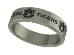 Auburn Tigers Stainless Steel 6mm Wide Ring Band (8). Officially Licensed Auburn University Tigers Stainless Steel Ring Band. Available in Sizes 6 through 13 in Half Sizes. Precision Laser Engraving - High Quality Stainless Steel. Band Measures 6mm Wide. Wear Everyday Without Fear of Damage.