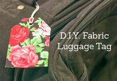 DIY Fabric (no-sew) Luggage Tags