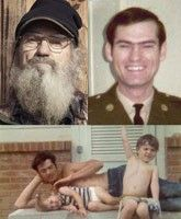 Great shots of young Si and his two very young (and beardless!) nephews, Willie and Jase.