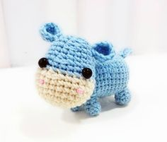Ella the Hippo Amigurumi Pattern