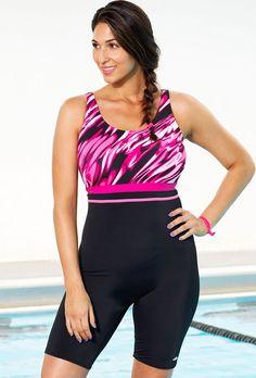 a5681da1ea9 Xtra Life Lycra Aquabelle Ripple Aquatard Plus Size Swimwear