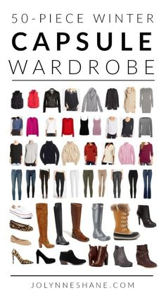 I'm super excited to finally reveal my winter capsule wardrobe with product links! In this post I share how I reduced my winter wardrobe to 50 pieces. Casual Winter Outfits, Winter Mode Outfits, Winter Outfits Women, Winter Fashion Outfits, Autumn Winter Fashion, Capsule Wardrobe 2018, Travel Wardrobe, Winter Wardrobe Essentials, Wardrobe Ideas