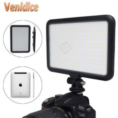 Mcopus Ultra Thin LED Video Light TTV-204 Double Color Temperature for Canon Nikon DSLR Camera