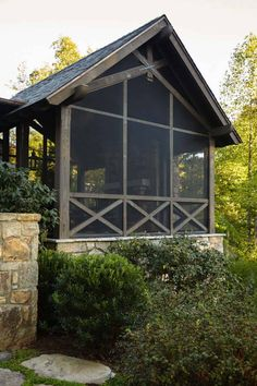 Gentle transported rustic porch design Save Now Screened Porch Designs, Screened In Patio, Lakeside Cottage, Lake Cottage, Rustic Cottage, Porch Kits, Porch Ideas, Yard Ideas, Screen House