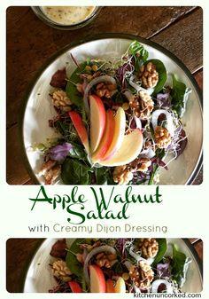 Apple Walnut Salad with Creamy Dijon Dressing