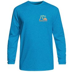 7a56393e8e Quiksilver Men's Heritage Surf Heather Long Sleeve Rashguard - Sun & Ski  Sports