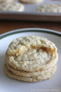 Soft Chewy Brown Sugar Cookies. They taste like chocolate chip cookies without the chocolate, they are my new favorite cookie!