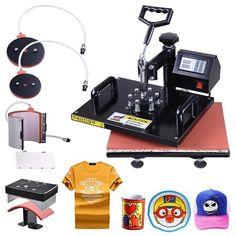5in1 12x15 Heat Press Machine Digital Transfer Sublimation T-Shirt Mug Hat Plate  $205.99