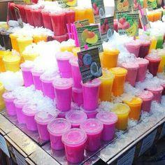 Pink Juice! Yes please. Mercado La Boqueria, Barcelona.  #girlgangtakesspain