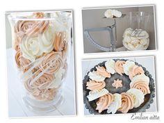 Emilian aitta Täydelliset marengit Marengit Meringue Meringue, Halloween Cupcakes, Red Velvet, Table Decorations, Merengue