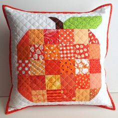 Scrappy Quilted Pillow Cover  fits 16 inch by MyCreativeFrenzy