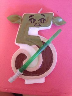 Star Wars Yoda Birthday Candle by TheCraftyPair on Etsy, $10.00