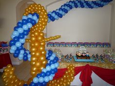 1000 images about pirate theme party decoration and for Anchor balloon decoration