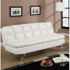 A&J Homes Studio Montecito Adjustable Sofa Upholstery: White