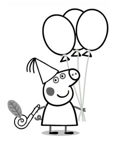 Printable Peppa Pig Coloring Pages. Have a Joy with Peppa Pig Coloring Pages. Do your children like to color pictures? If they do, the Peppa pig coloring pages Peppa Pig Coloring Pages, Hello Kitty Colouring Pages, Birthday Coloring Pages, Cartoon Coloring Pages, Coloring Books, Coloring Sheets, George Pig, Free Printable Coloring Pages, Coloring Pages For Kids