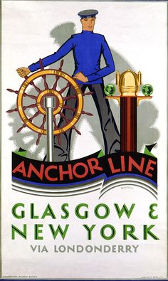 Glasgow to New York with the Anchor Shipping Line. 1927