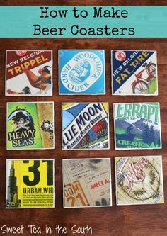 Learn how to make your own Beer Coasters! Make a great gift and guys love them!
