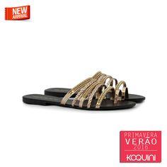 Você vai adorar ficar fresquinha neste calor #koquini #sapatilhas #euquero #rasteirinha Compre Online: http://koqu.in/1J9rQyb