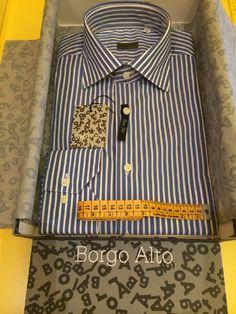 Camicia Borgo Alto, vestibilità slim, rigata