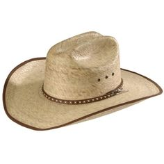 3c6737192fcb Resistol Brush Hog Mexican Palm Straw Cowboy Hat ❤ liked on Polyvore Mens Cowboy  Hats,