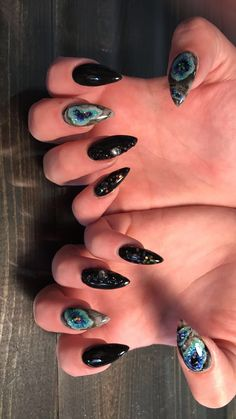 Geode acrylic nail designs