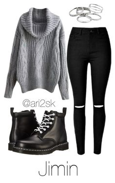 """""""Cozy with Jimin """" by ari2sk on Polyvore featuring Kendra Scott and Dr. Martens"""