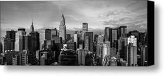 New York City Skyline Stretched Canvas Print