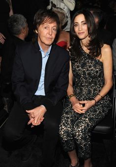 Paul McCartney and Nancy Shevell at the 56th Annual GRAMMY Awards on Jan. 26 in Los Angeles