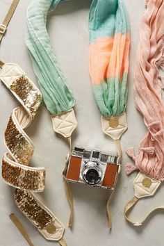 Love these girly camera straps!