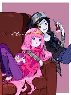 Adventure Time, Marceline Abadeer, Princess Bonnibel Bubblegum